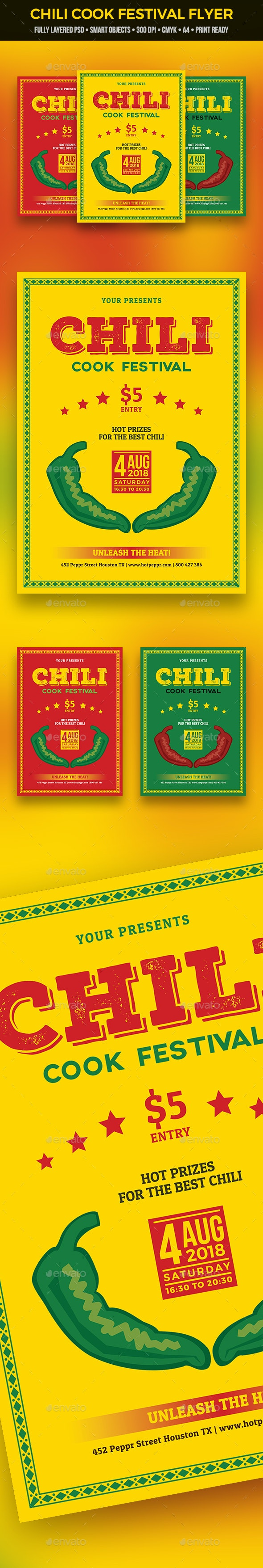 Chili Cook Festival Flyer - Miscellaneous Events