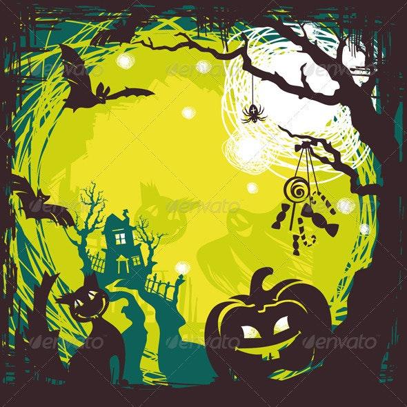 Cartoon Halloween Background - Halloween Seasons/Holidays
