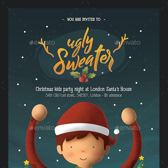 Ugly Sweater Kids Christmas Flyer