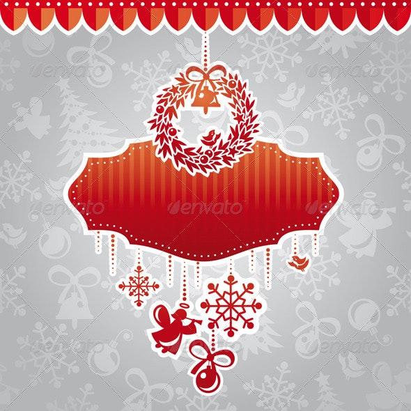 Christmas Vector Frame - Christmas Seasons/Holidays