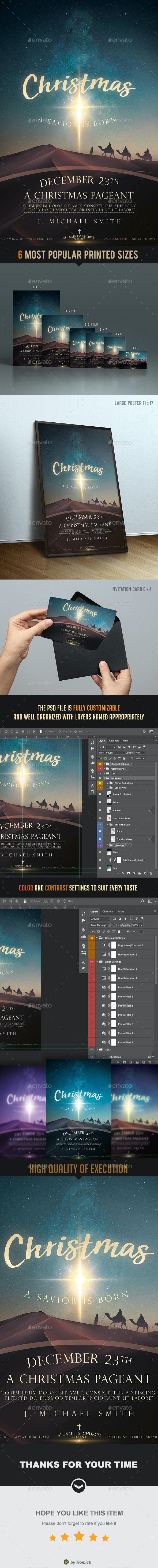 Christmas Church Poster & Flyer - Church Flyers