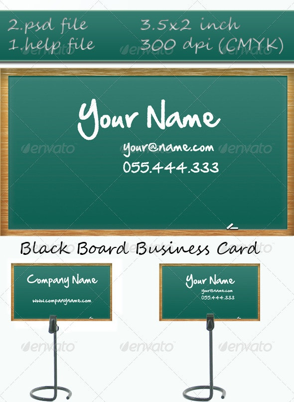 Black Board Business Card - Corporate Business Cards