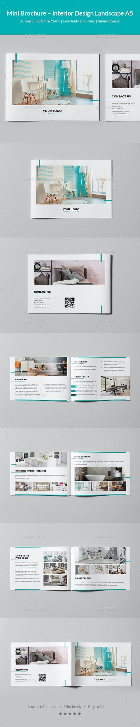 Mini Brochure – Interior Design Landscape A5 - Informational Brochures