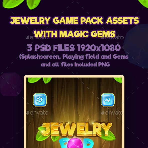 Jewelry Game Pack with Magic Gems