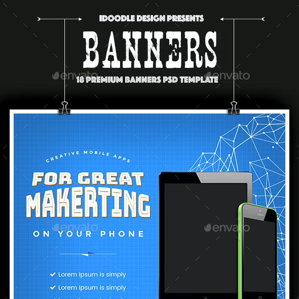 Mobile Applications Banners Ads