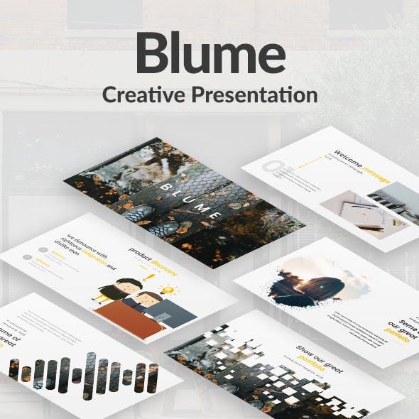 Blume Creative Google Slide Template