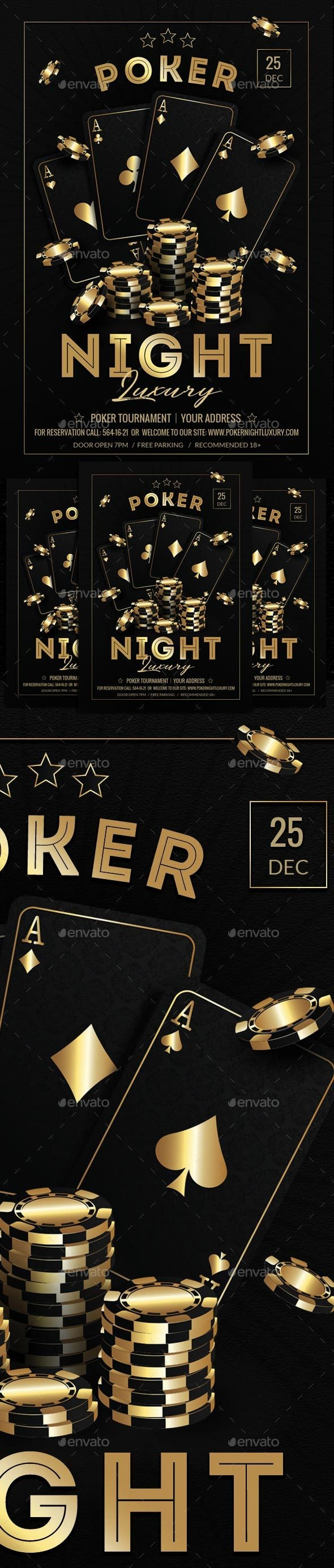 Poker Night Luxury Flyer Template - Miscellaneous Events