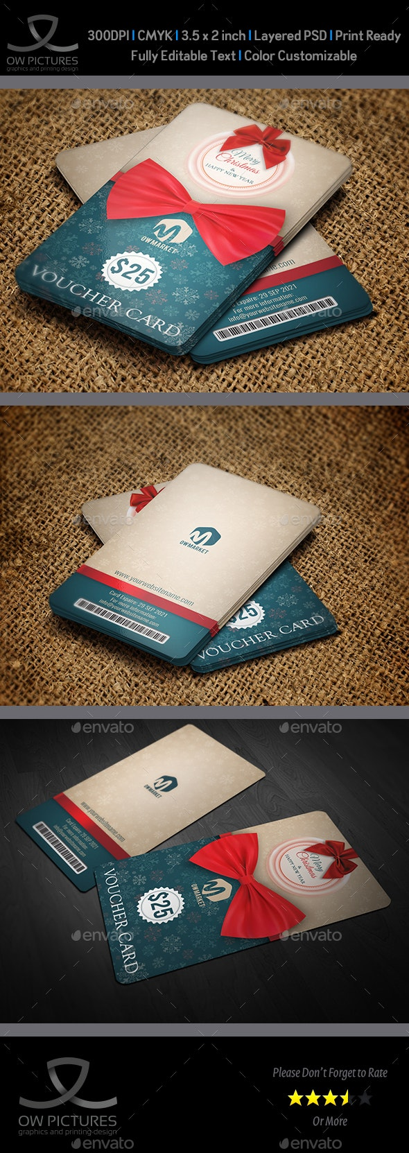 Gift Voucher Card Template Vol.26 - Cards & Invites Print Templates
