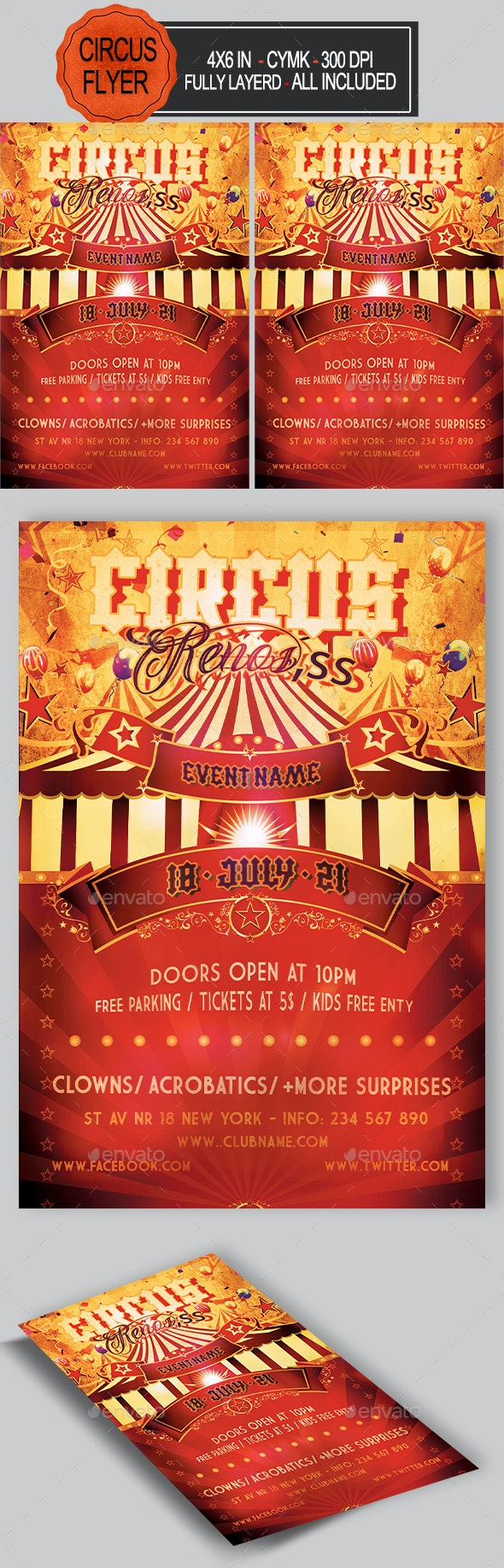 Circus Flyer - Holidays Events