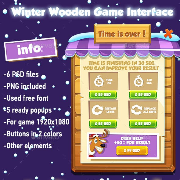 Wooden Winter Game Interface 2018