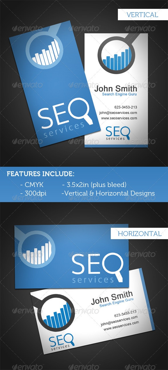 SEO Services Business Card - Corporate Business Cards