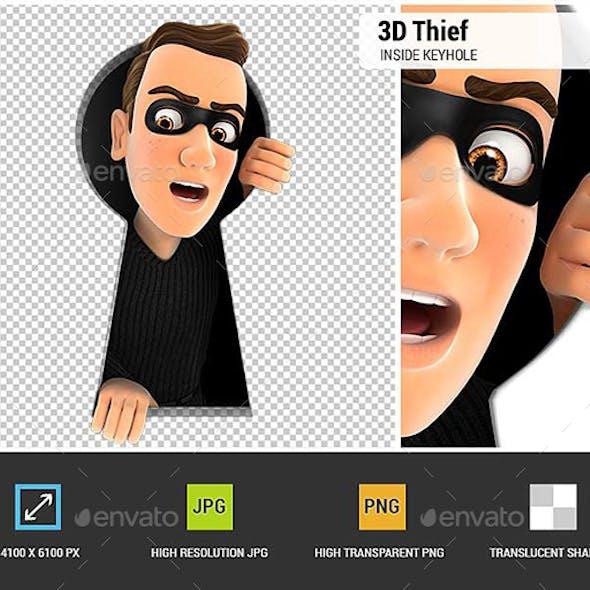 3D Thief Inside Keyhole