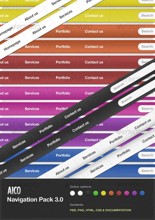 AICO Navigation Pack 3.0 - Web Elements