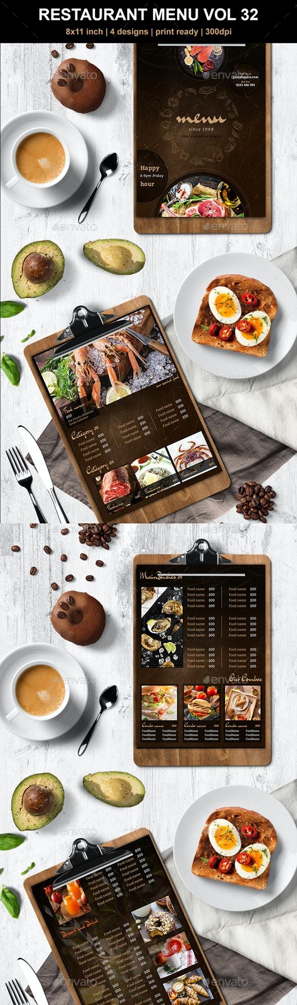 Restaurant Menu Vol 32 - Food Menus Print Templates