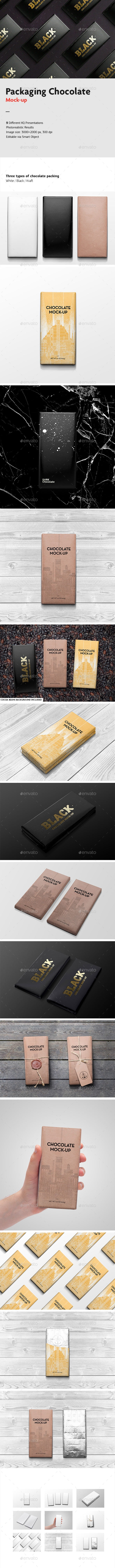 Packaging Chocolate Mock-Up - Packaging Product Mock-Ups