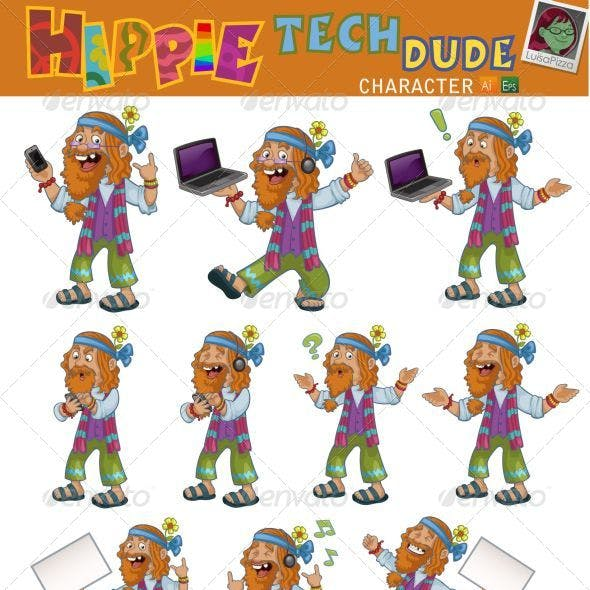 Hippie Tech Dude Character