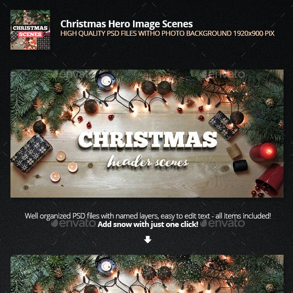 Christmas backgrounds - 6 ready scenes