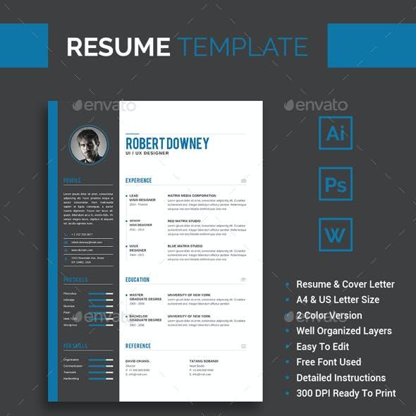 Resume/CV Template - Robert Downey