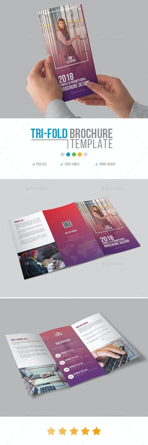Corporate Trifold Brochure Template 26 - Corporate Brochures