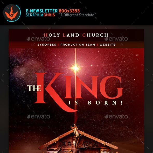 The King Is Born Christmas E-Newsletter Template