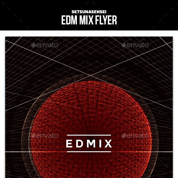 EDM Mix Flyer