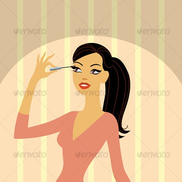 Beauty making up lashes