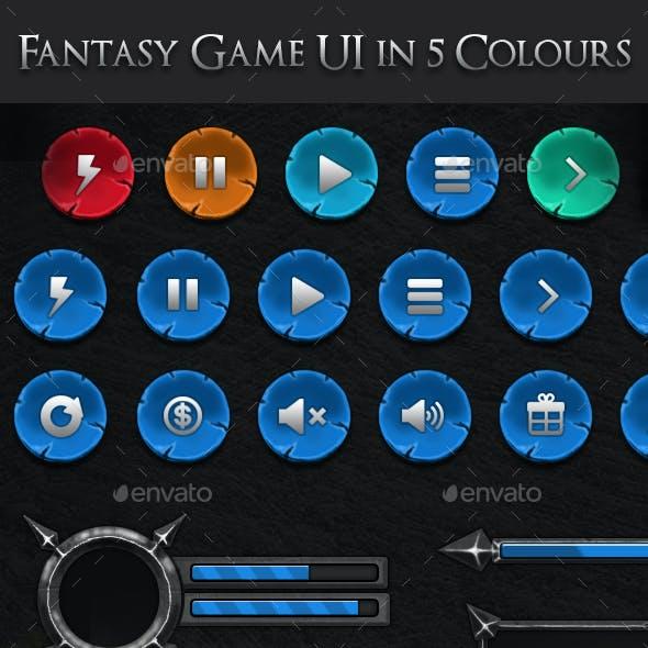 Medieval Fantasy Game UI (5 Colors)