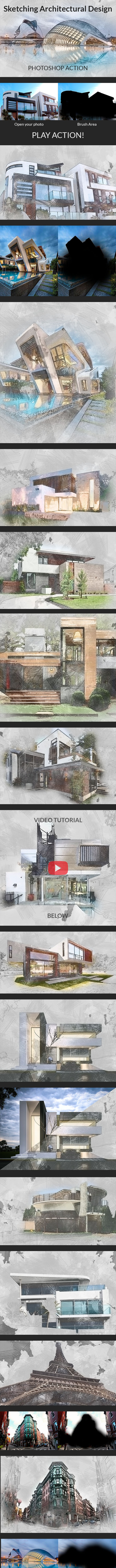 Sketching Architectural Design - Photo Effects Actions