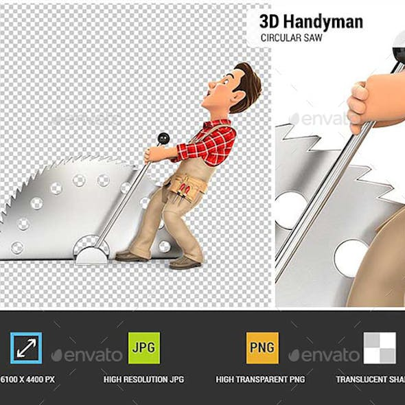 3D Handyman Activating Circular Saw