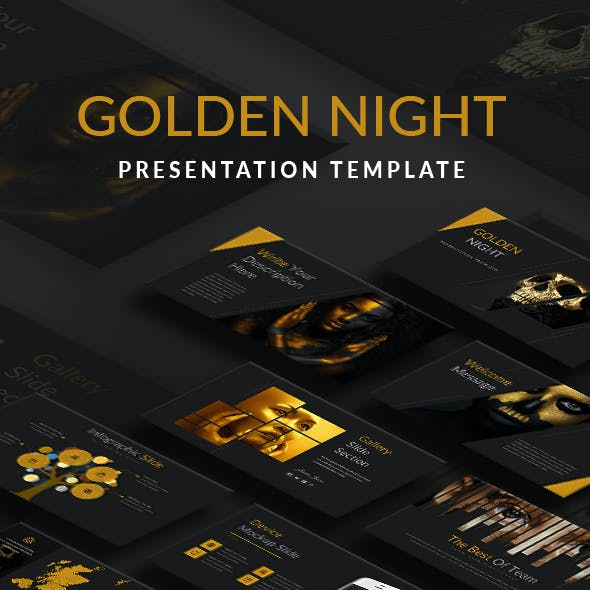 Golden Night Presentation Template