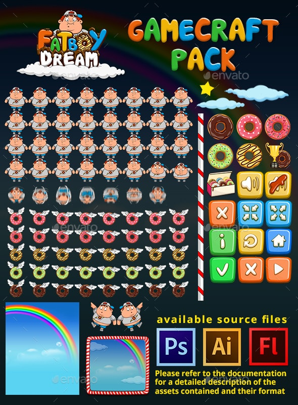 FatBoy Dream - Game Assets - Game Kits Game Assets