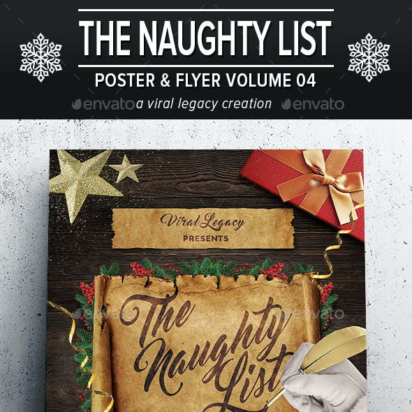 The Naughty List Poster / Flyer V04