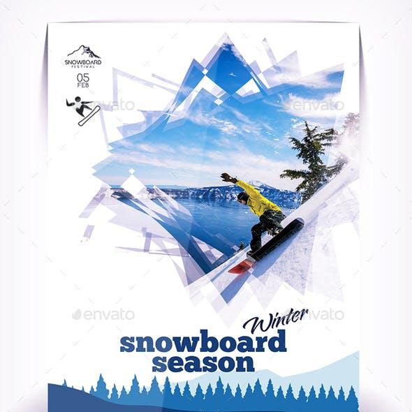 Sbowboard Season Flyer