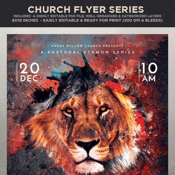 Church Themed Event Flyer - Mighty to Save