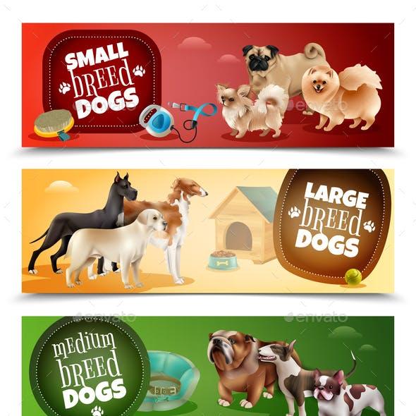 Dog Breeds Banner Set