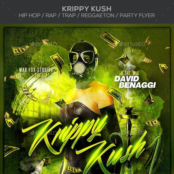 Krippy Kush - Hip Hop / Rap / Trap / Reggaeton Party Flyer