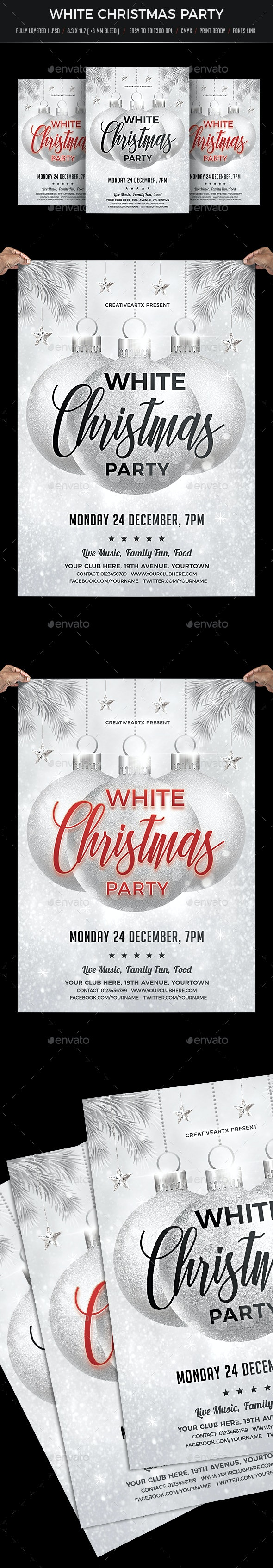 White Christmas Party - Events Flyers