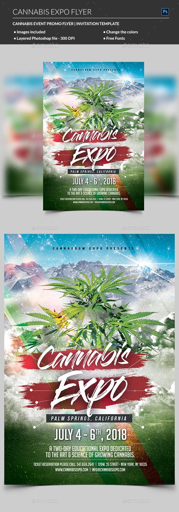 Cannabis Flyer - Flyers Print Templates