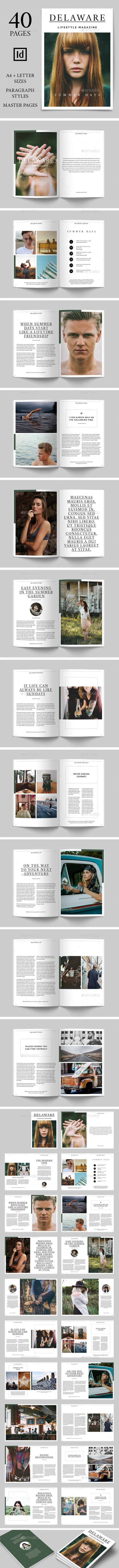 Delaware Lifestyle Magazine - Magazines Print Templates