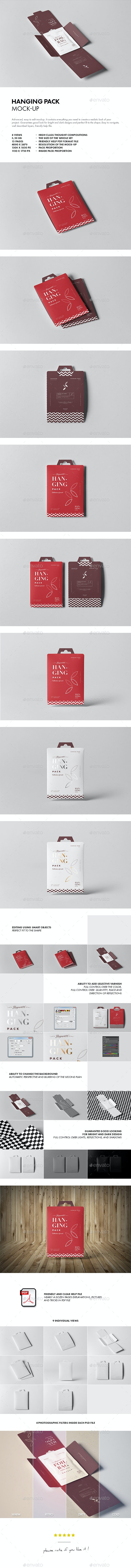 Hanging Pack Mock-up - Miscellaneous Packaging
