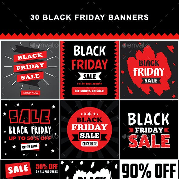 30 Black Friday Banners