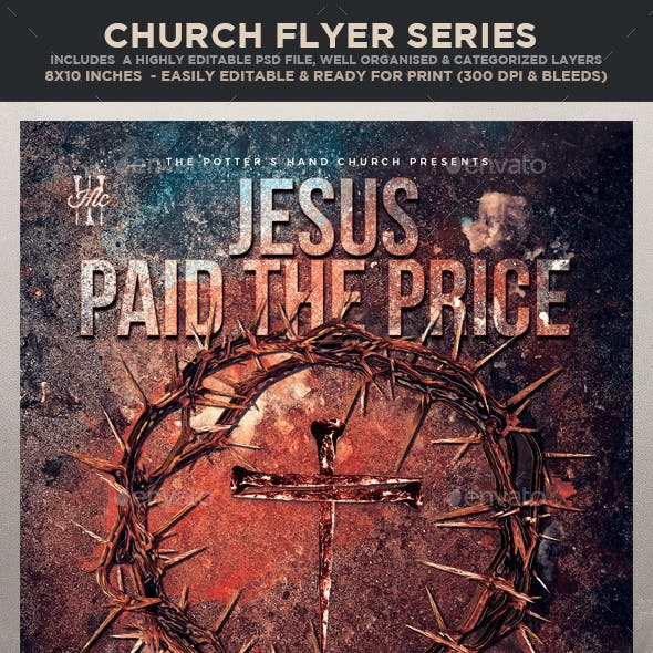 Church Themed Event Poster - Paid the Price