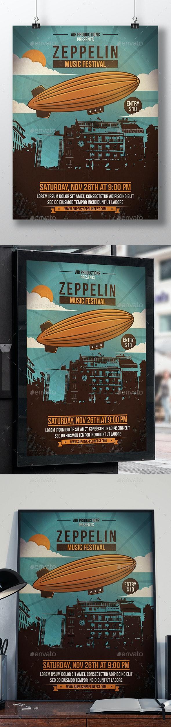 Sky Zeppelin Flyer Template - Miscellaneous Events