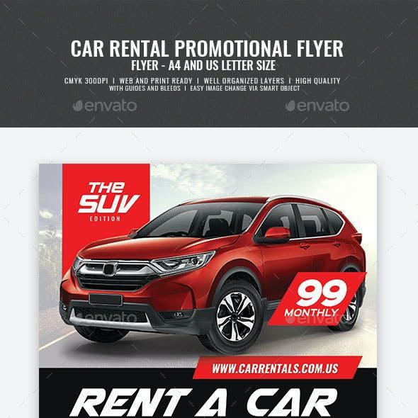Car Rental Promotional Flyer