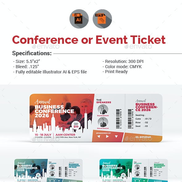 Event/Conference Ticket Template