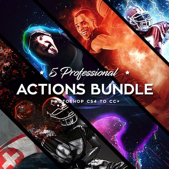 Five Photoshop Actions Bundle v5