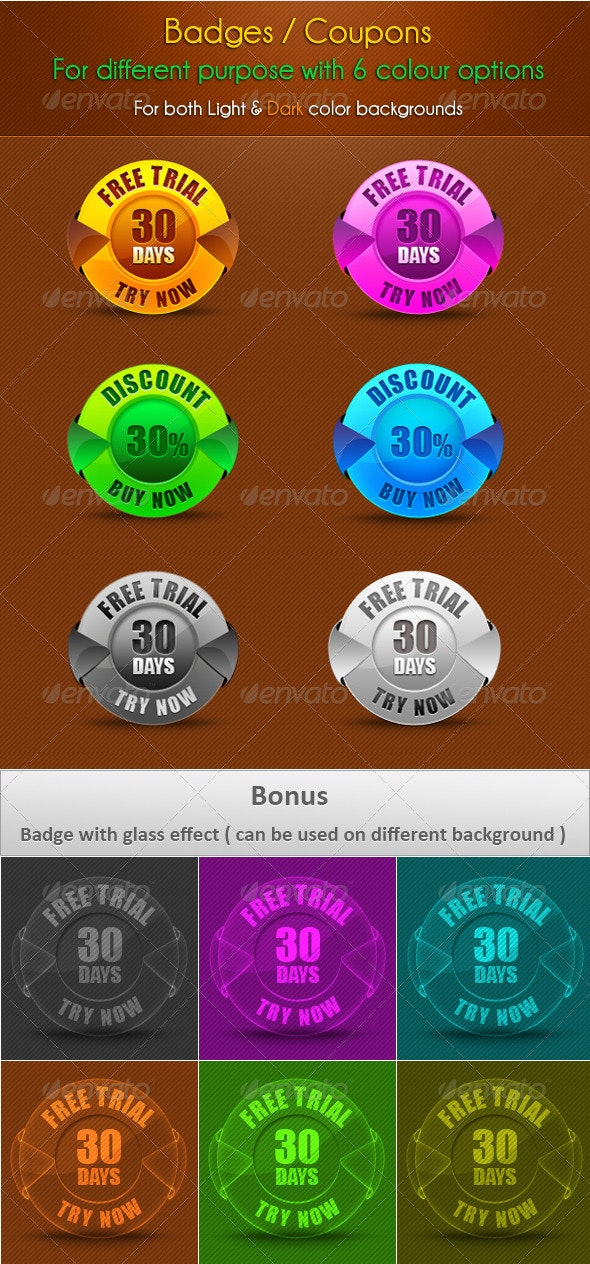 Badge / Coupons - Badges & Stickers Web Elements