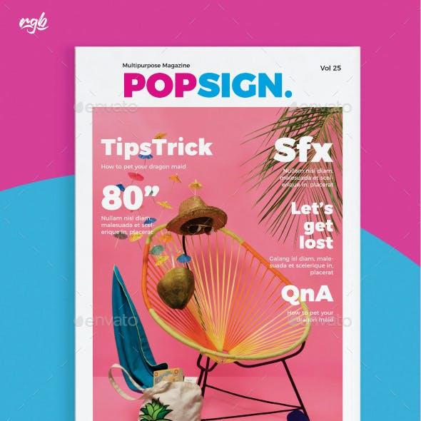 Popsign Multipurpose Magazine