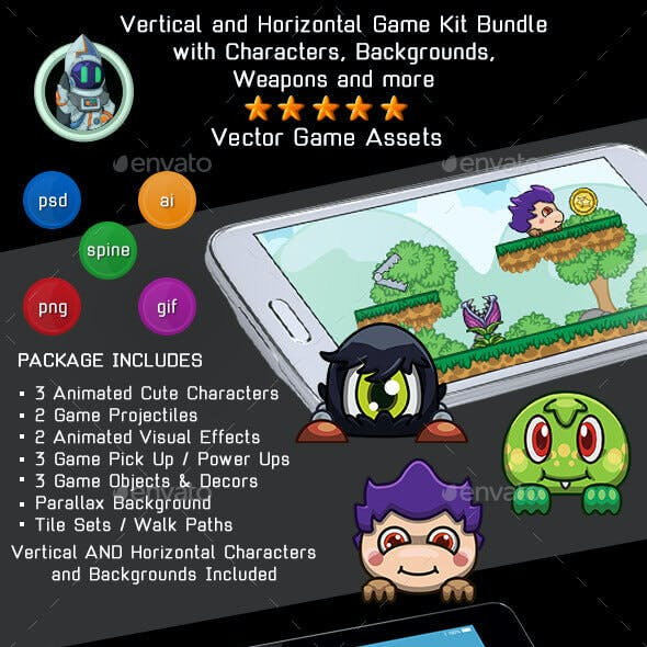 Vector 2D Game Assets from GraphicRiver