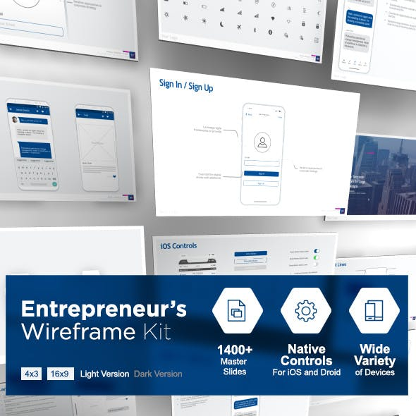 The Entrepreneur's Wireframe Kit - PowerPoint Version